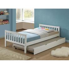 CUTIE WHITE FINISH TWIN BED