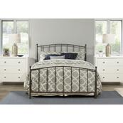 Warwick King Bed Set Without Rails (gray Bronze)