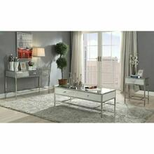 ACME Weigela Coffee Table - 80555 - Mirrored & Chrome