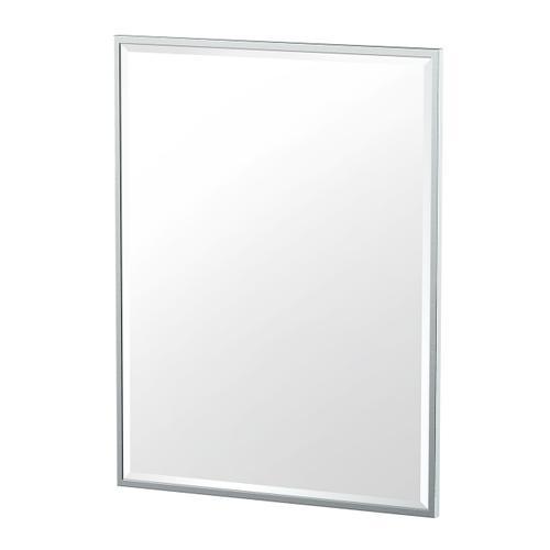 Flush Mount Framed Rectangle Mirror in Chrome