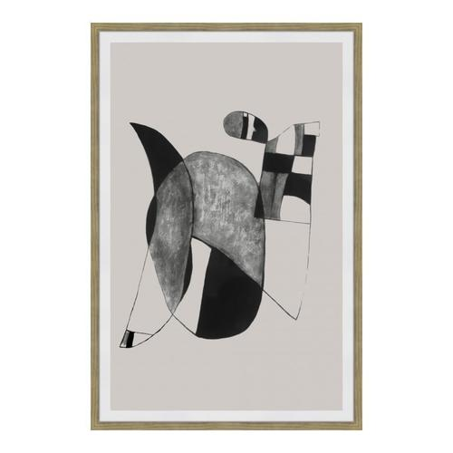 Happiness 2 Abstract Ink Print Wall Décor