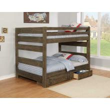 Wrangle Hill Gun Smoke Full/full Bunk Bed