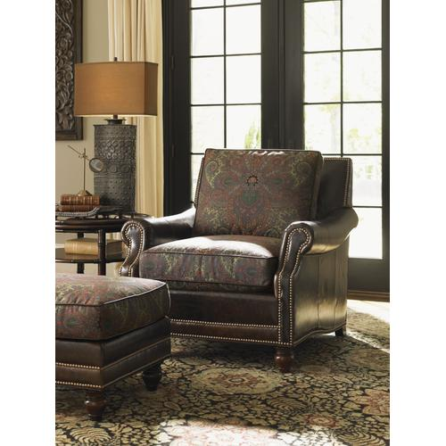 Shoal Creek Leather Ottoman