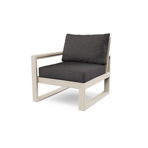Sand & Ash Charcoal EDGE Modular Left Arm Chair