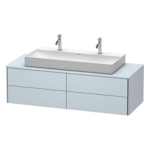 Duravit - Vanity Unit For Console Wall-mounted, Light Blue Satin Matte (lacquer)