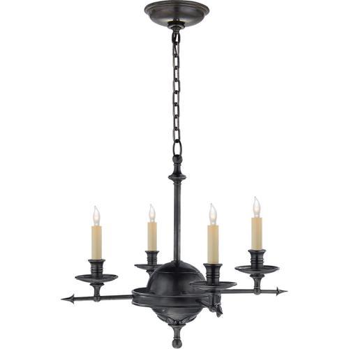 Visual Comfort - E. F. Chapman Leaf And Arrow 4 Light 16 inch Bronze Chandelier Ceiling Light