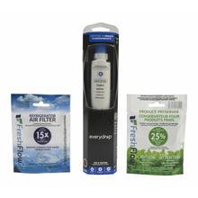 See Details - Everydrop® Refrigerator Water Filter 6 - EDR6D1 (Pack Of 1) + Refrigerator FreshFlow™ Air Filter + FreshFlow Produce Preserver Refill - Multi-Pack