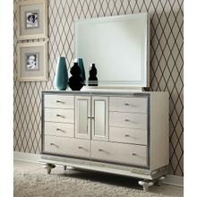 Upholstered Storage Console- Dresser W/mirror