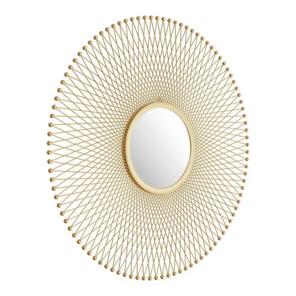 Glow Round Mirror Gold