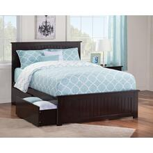 Nantucket Full Bed with Matching Foot Board with 2 Urban Bed Drawers in Espresso