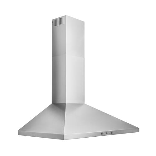 Broan® 36-Inch Convertible Wall-Mount Pyramidal Chimney Range Hood, 450 MAX CFM, Stainless Steel