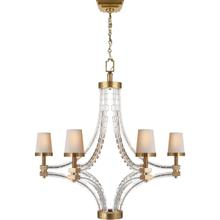 View Product - E. F. Chapman Crystal Cube 6 Light 35 inch Antique-Burnished Brass Chandelier Ceiling Light