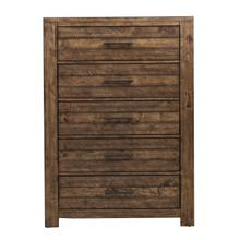 See Details - Chest with Five Drawers and Distressed Finish