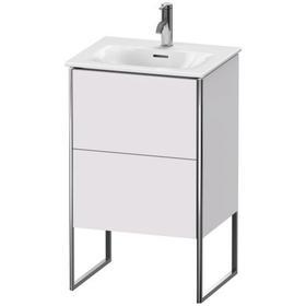 Vanity Unit Floorstanding, White Lilac Satin Matte (lacquer)
