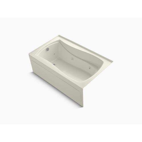 "Biscuit 60"" X 36"" Alcove Whirlpool With Integral Apron, Integral Flange, Left-hand Drain and Heater"