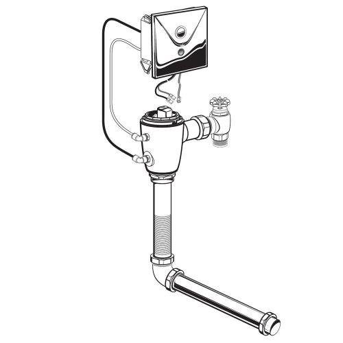 American Standard - Selectronic Concealed Toilet Flush Valve for Wall-Hung Back Spud Bowls  American Standard - No Finish