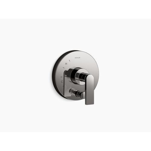 Kohler - Vibrant Titanium Valve Trim With Diverter and Lever Handle for Rite-temp Pressure-balancing Valve, Requires Valve