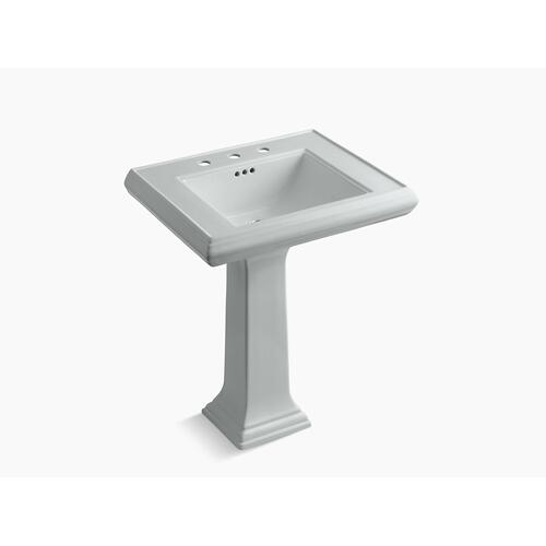 "Ice Grey Classic 27"" Pedestal Bathroom Sink With 8"" Widespread Faucet Holes"