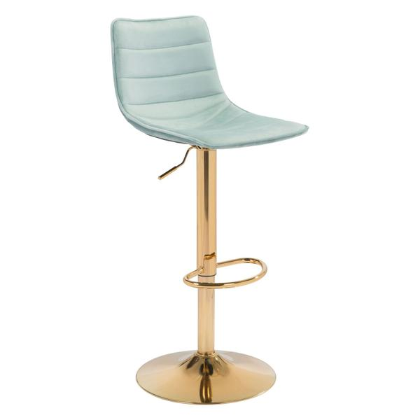 See Details - Prima Bar Chair Light Green & Gold
