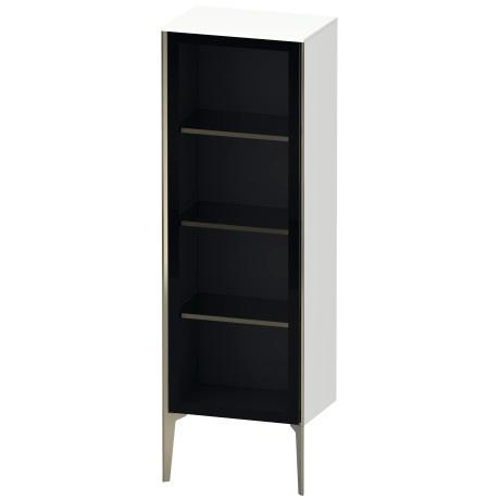 Semi-tall Cabinet With Mirror Door Floorstanding, White Matte