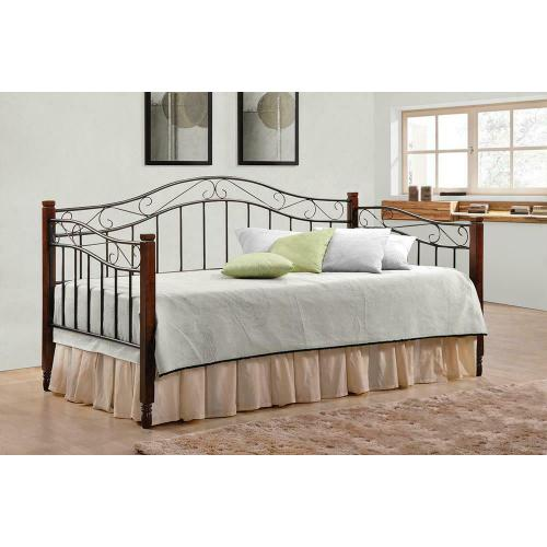 Traditional Sandy Black and Wood Daybed
