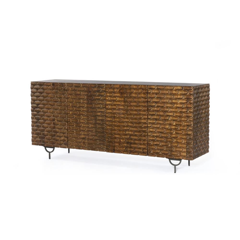 Rio Sideboard-round Cut Antique Brown