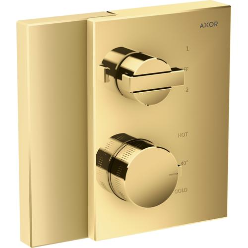 AXOR - Polished Gold Optic Thermostatic Trim with Volume Control and Diverter