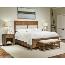 Bluffton King Upholstered panel bed - King / Southlake