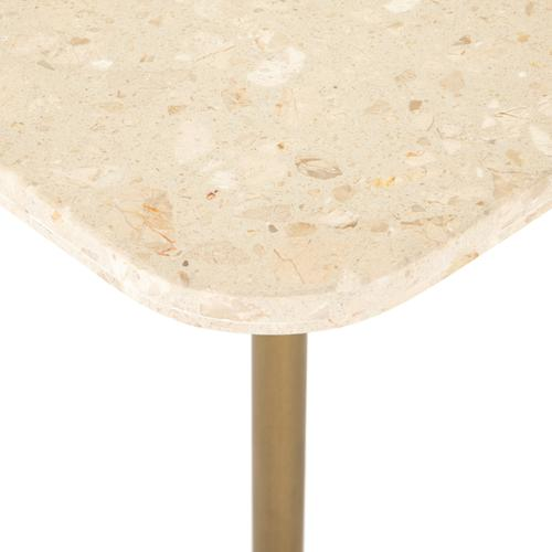 Cream Terrazzo Finish Ronan Accent Table