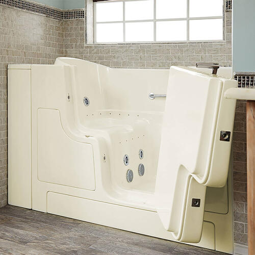 American Standard - Gelcoat Premium Seriers 30x52 Walk-in Tub with Combo Massage and Outswing Door, Right Drain  American Standard - Linen