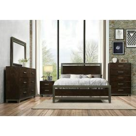ACME Charleen Queen Bed - 26680Q - Walnut