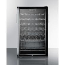 """20"""" Wide Freestanding Wine Cellar With Lock, Digital Thermostat and Full-length Towel Bar Handle"""