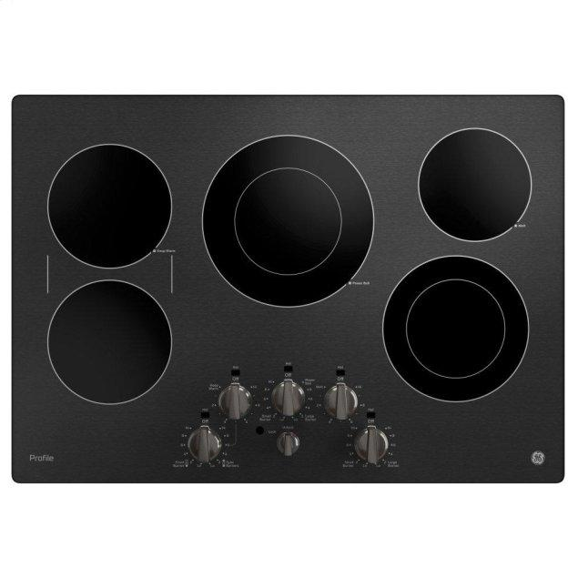 """GE Profile 30"""" Built-In Knob Control Electric Cooktop"""