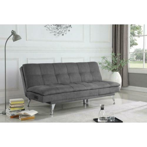 Sofa Chaise Bed W/ Power Outlet