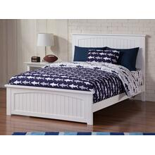 View Product - Nantucket Full Bed with Matching Foot Board in White