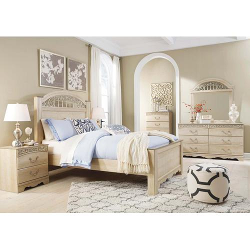 Catalina - Antique White 3 Piece Bed Set (Queen) - Only Three Left At This Price!