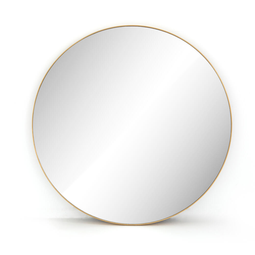 Large Size Polished Brass Finish Bellvue Round Mirror