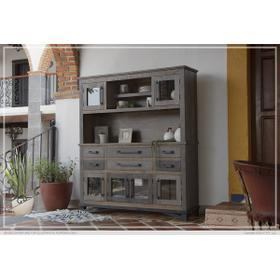 See Details - Buffet & Hutch w/6 Drawers, 6 Doors