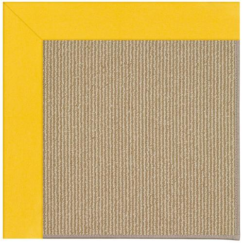 Creative Concepts-Sisal Canvas Sunflower Yellow Machine Tufted Rugs