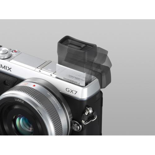 LUMIX DMC-GX7 Interchangeable Lens (DSLM) Camera Kit with 14-42 II Silver Lens - Black/Silver