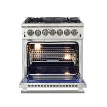 """See Details - Capriasca - Titanium Professional 30"""" Freestanding Dual Fuel Range 240V Electric Oven and Gas Surface"""