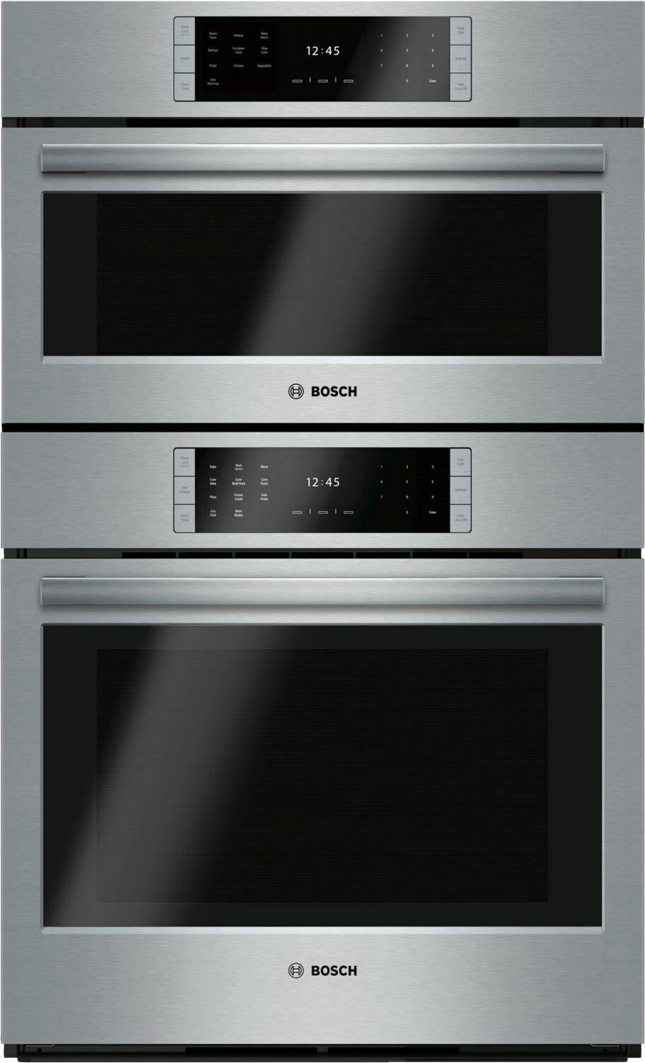 """BoschBenchmark Series, 30"""" Combo, Upper: Steam Convection, Lower: Eu Conv, Tft Touch Control"""
