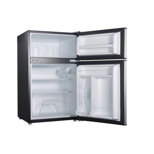 Amana - Dual Door Mini Refrigerator