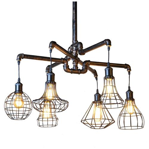 Luminaire Antique Vintage Pipe Ceiling Light
