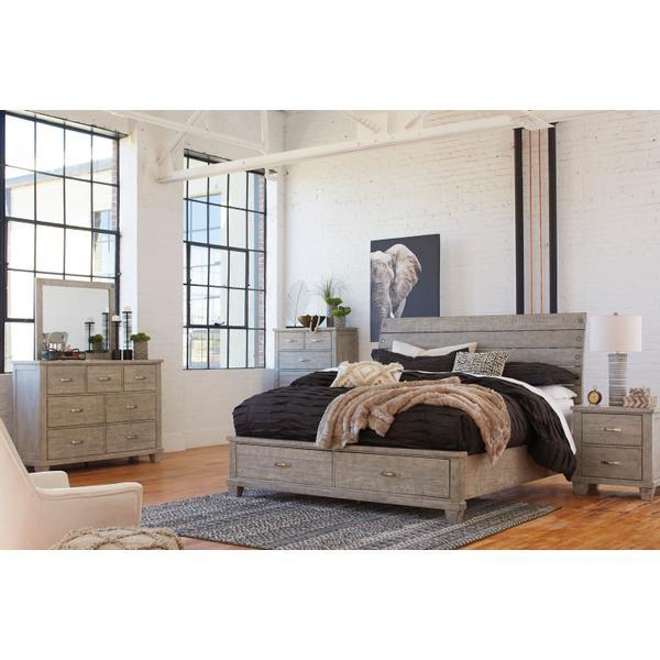 See Details - Naydell - Rustic Gray 5 Piece Bedroom Set