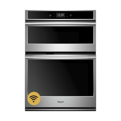 Whirlpool Canada - 6.4 cu. ft. Smart Combination Wall Oven with Microwave Convection