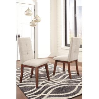 See Details - Centiar - Two-tone Brown Set Of 2 Dining Room Chairs
