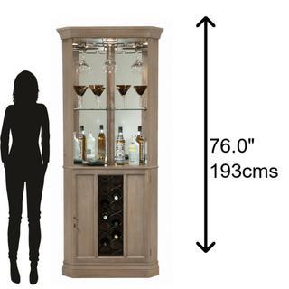 690-047 Piedmont VI Corner Wine & Bar Cabinet