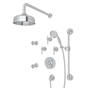 Polished Chrome ARCANA THERMOSTATIC SHOWER PACKAGE with Arcana Series Only Ornate Metal Lever Product Image
