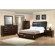 Phoenix Cappuccino Upholstered Queen Five-piece Bedroom Set Product Image